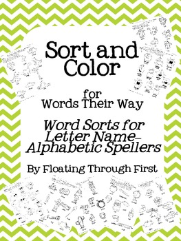 Words Their Way Sort and Color Pages:  Letter Names--Alpha
