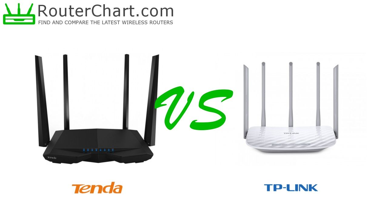 The side-by-side comparison of the Tenda AC6 and TP-Link
