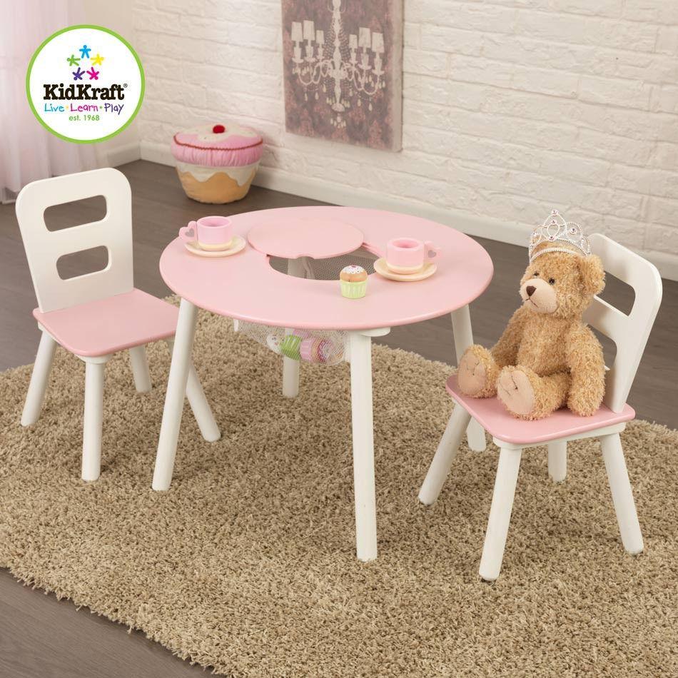 Ensemble Chaises Et Table Ronde Rose Table Et Chaise Enfant Table Enfant Meuble Enfant