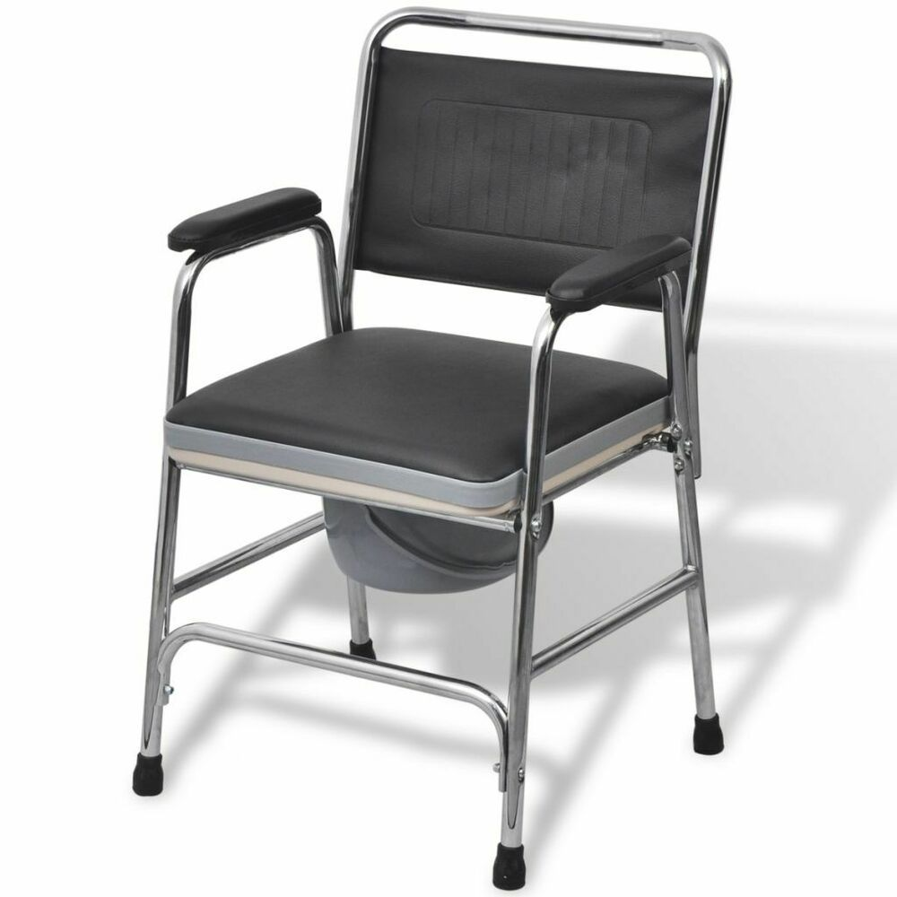 Ebay Sponsored Vidaxl Toilettenstuhl Feststehend Pu Stahl 100kg Nachtstuhl Wc Stuhl Rollstuhl Duschsitz Stuhle Toilette