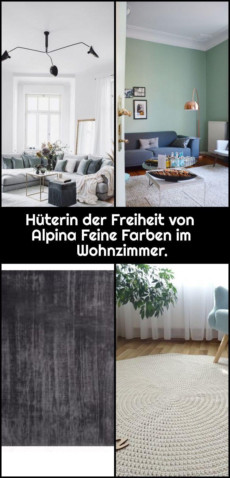 Hüterin der Freiheit von Alpina Feine Farben im Wohnzimmer.,  #Alpina #der #Farben #Feine #Fr... #alpinafeinefarben
