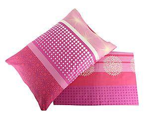 Parure copripiumino singolo in cotone Amira - rosa