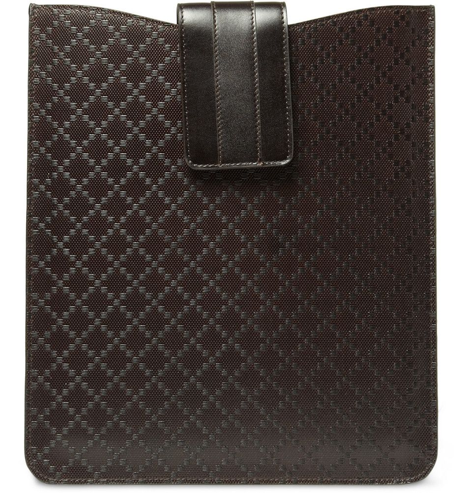 14ad614c1e6 Gucci Diamond Pattern Leather Ipad Sleeve