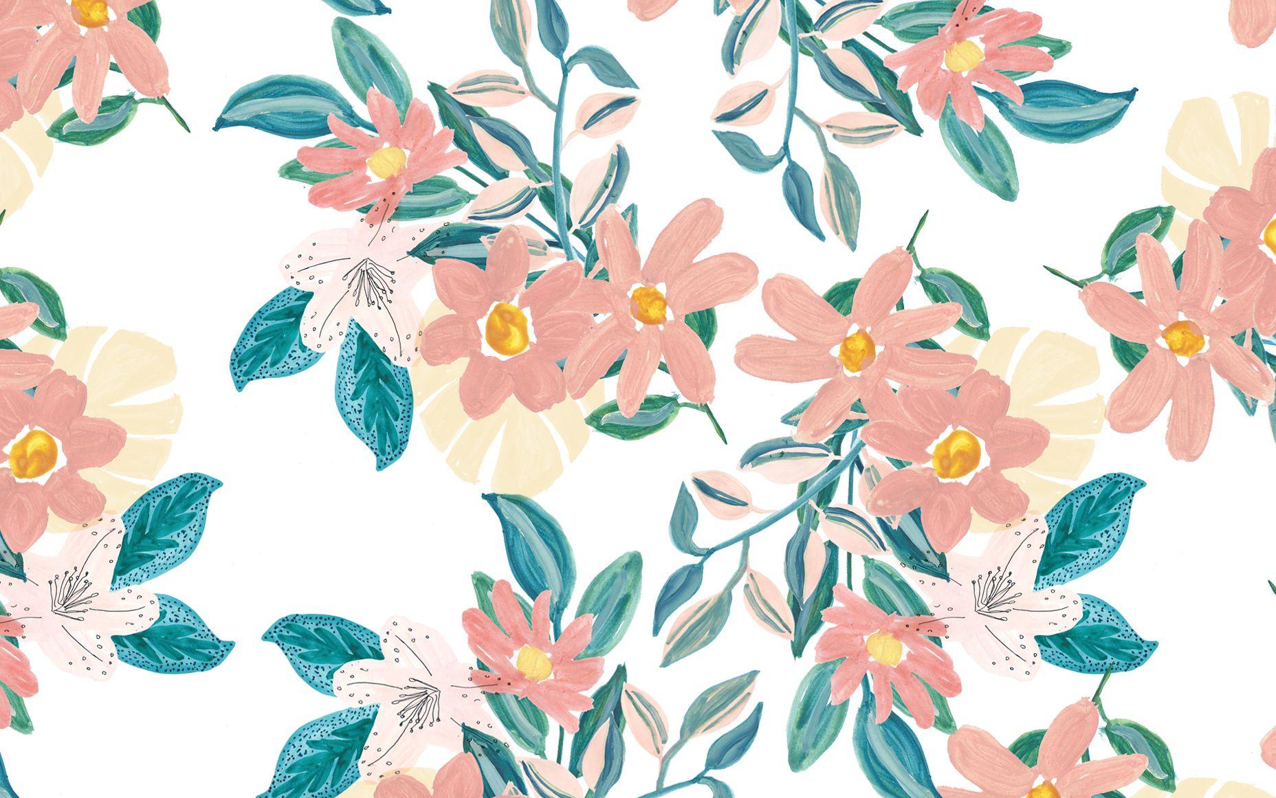 Spring Floral Desktop Wallpaper Designlovefest Fondo De Pantalla