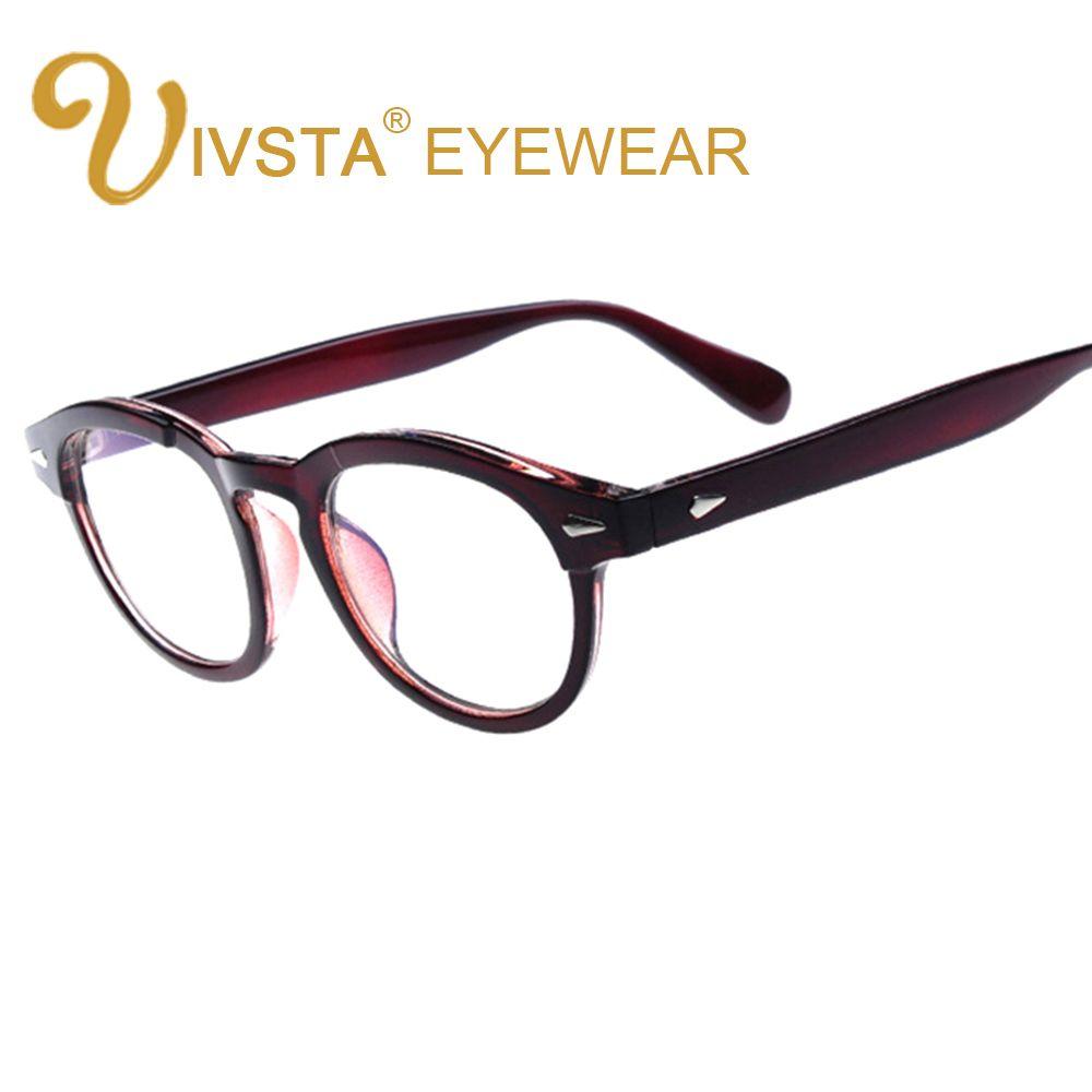 IVSTA Immitating-Bamboo PC Johnny Depp Eye Glasses Frames for Women ...