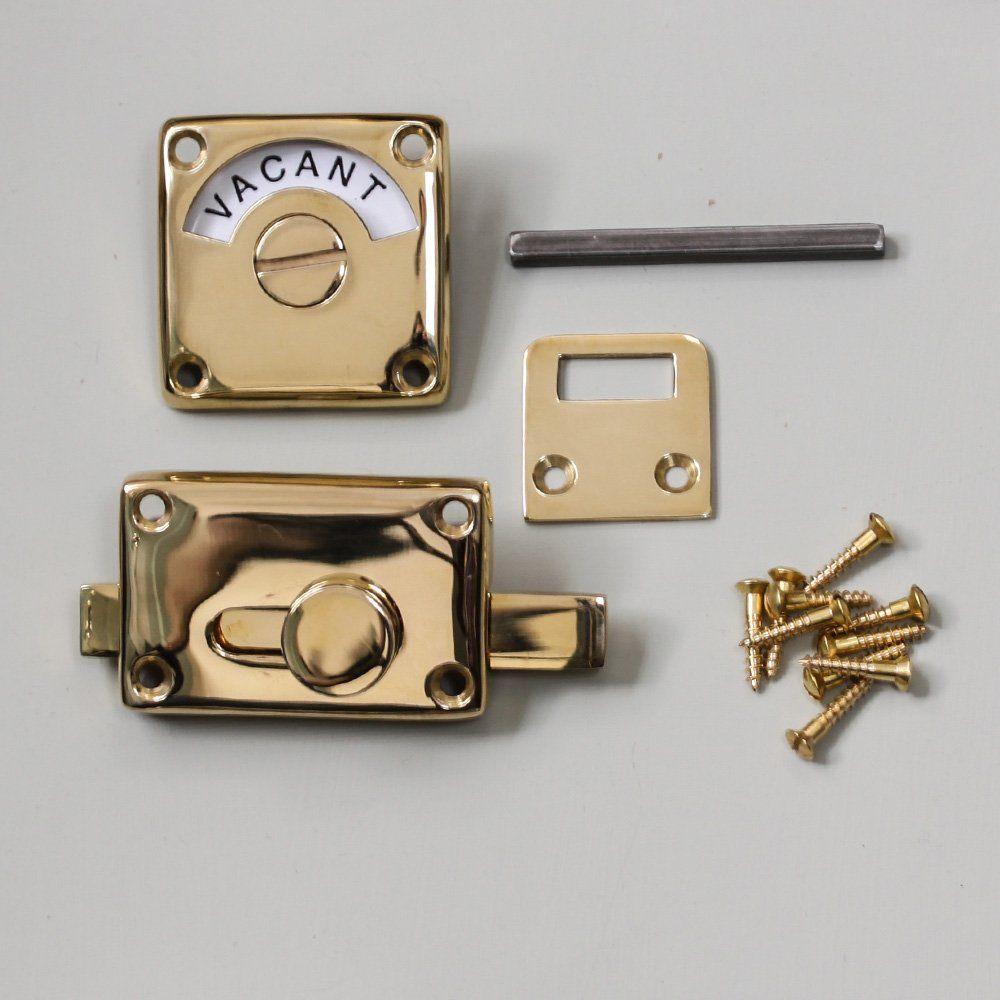 Brass Vacant Engaged Lock Con Imagenes Picaportes Cerraduras Casas Nuevas