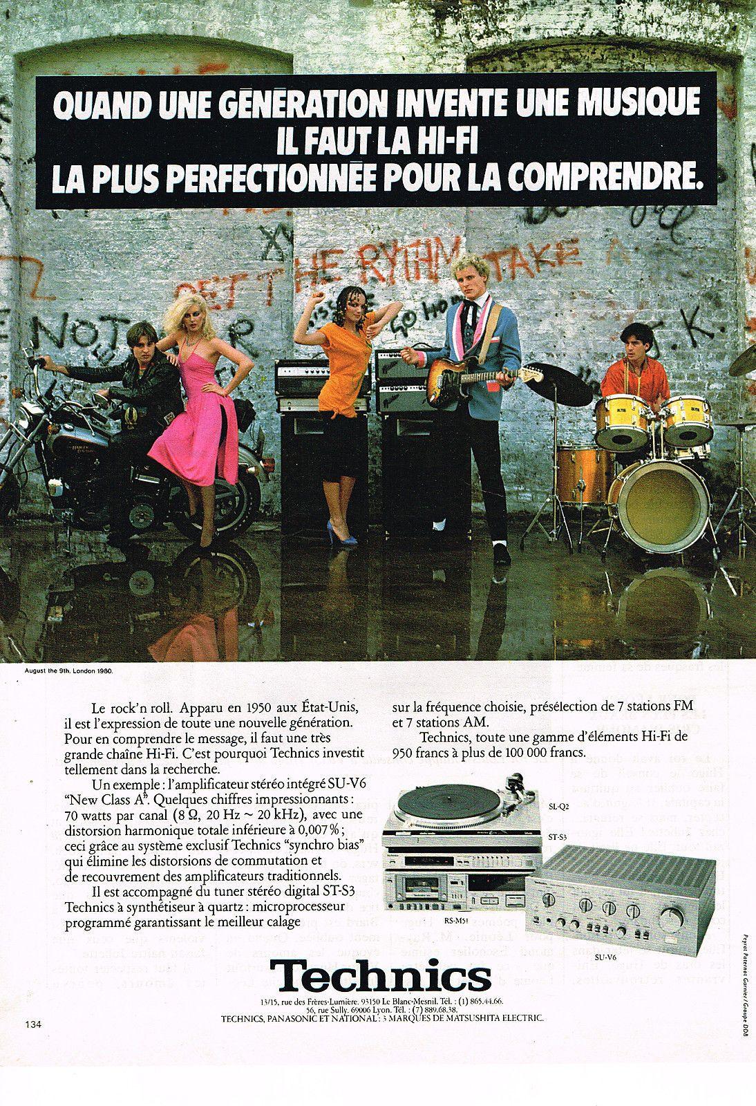 Technics SL-Q2 PUBLICITE  1981   TECHNICS   ampli stéréo | Collections, Objets publicitaires, Publicités papier | eBay!