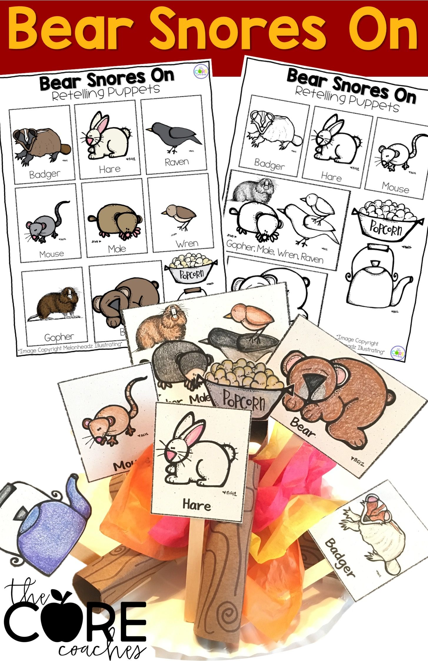 Bear Snores On Interactive Read Aloud Lesson Plans And