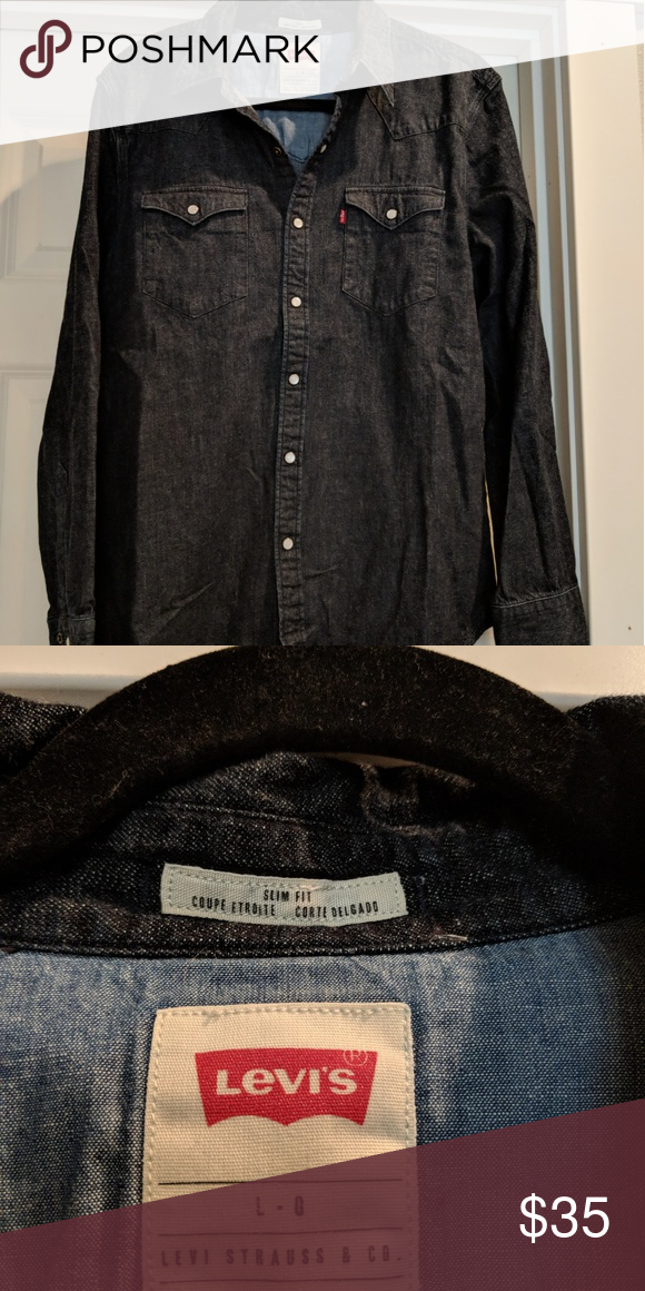 341d36327b Levis slim fit denim shirt New without tags Levi s slim fit snap front  denim shirt.