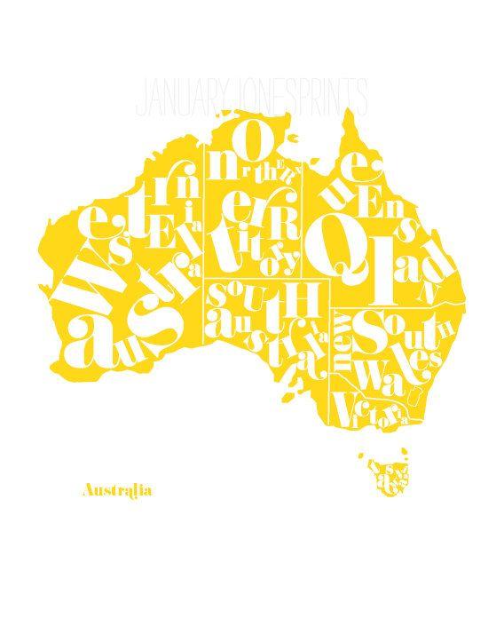 Australia Map Provinces.Australia Provinces 12 By January Jones Prints Map Art