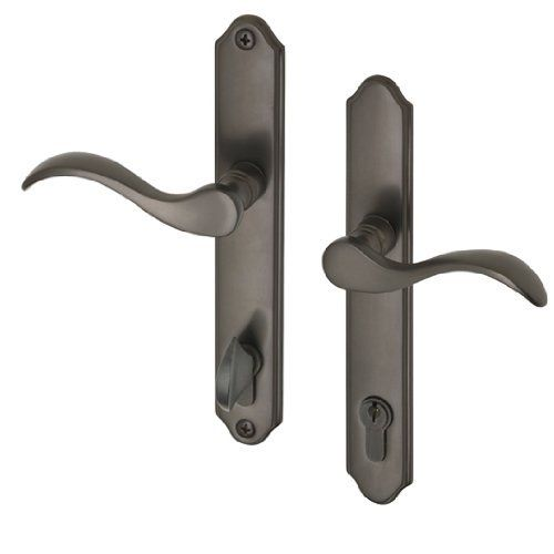 Swing Door Bronze Handle Set With Locking Cylinder Fits 13 4 Thick Doors With A Multipoint Lockmultipoint Lock Not Door Hardware Door Handles Door Handle Sets