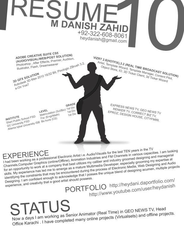 resume-some great pros and cons to this one Graphic Design