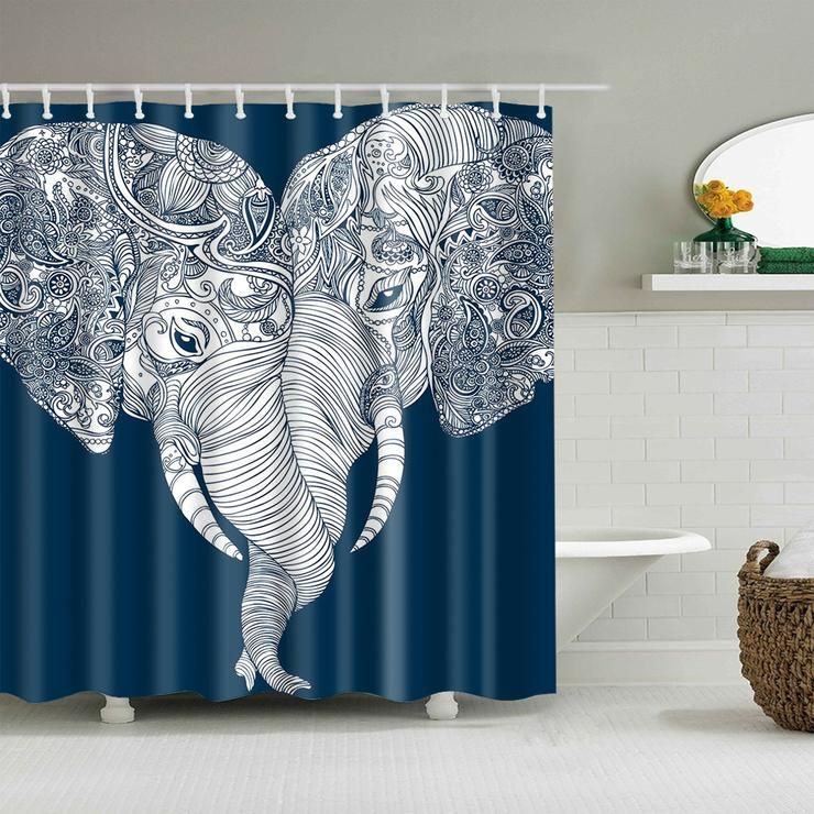 Couple Elephant Unforgettable Love Shower Curtain Bathroom Decor