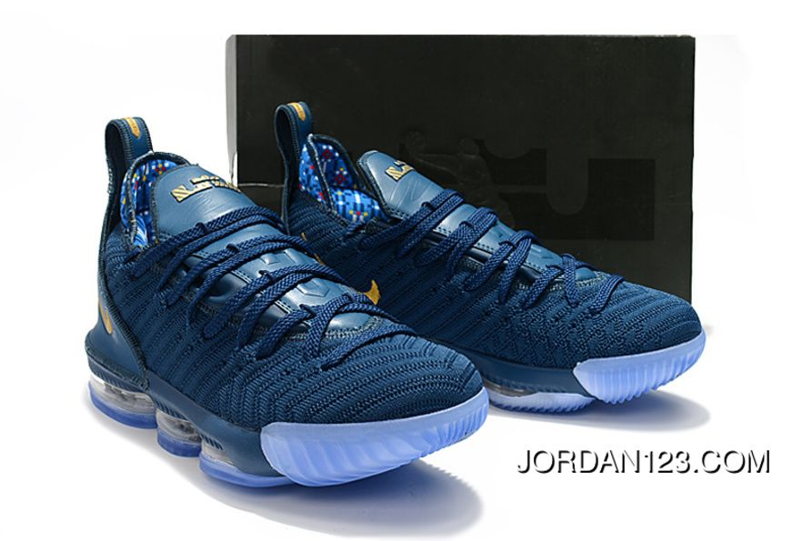 quality design 3215b bcb7f Nike LeBron 16 Navy Blue Women Men Battle Shoes Best