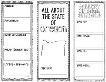 Oregon  State Research Project  Interactive Notebook  Mini Book