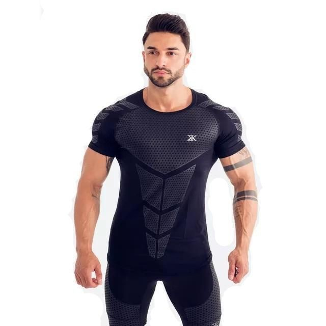 Photo of Men's Compression Plus size Workout Tee Tops