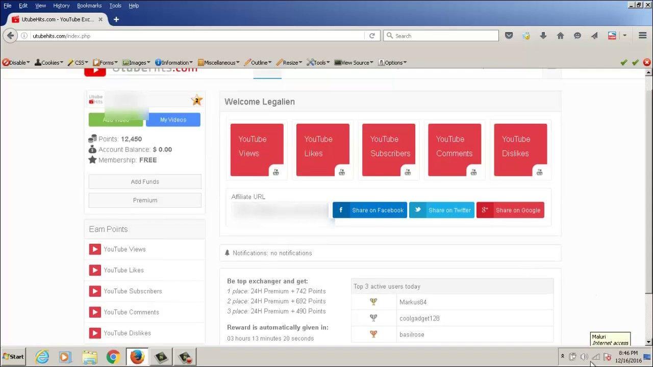 Utubehits #Review - #Youtube Social Exchange #Sub4sub, and #iMacro