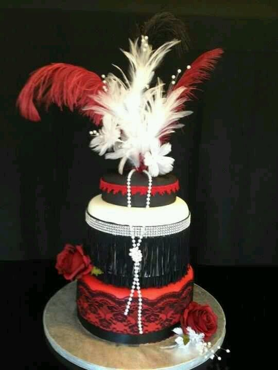 Roaring 20s Cake Designs Harlem Nights Theme Party Decorations