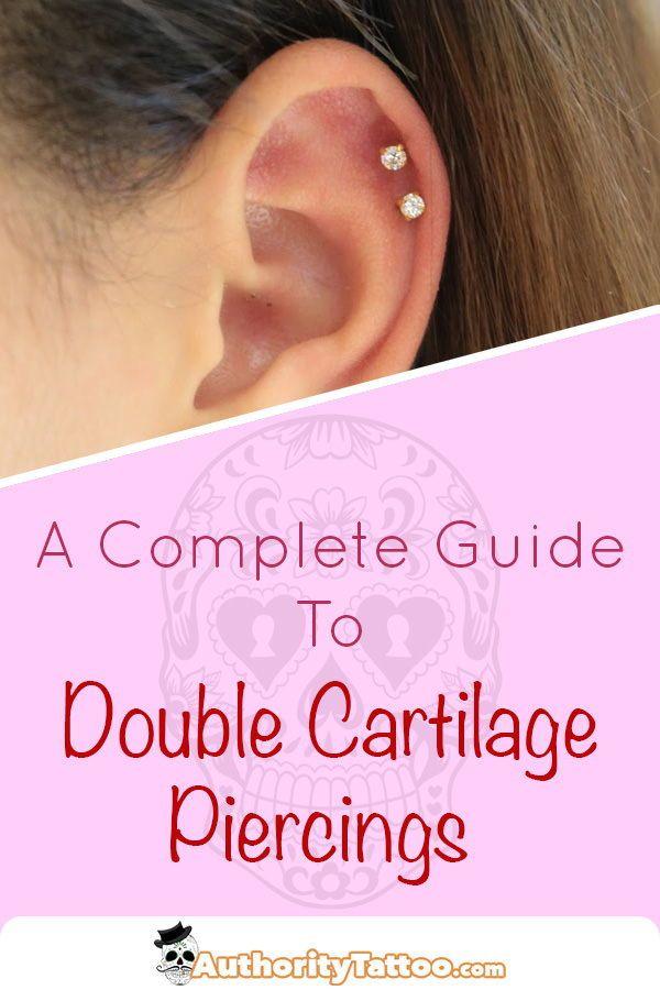Double Cartilage Piercing Images Guide Double Cartilage