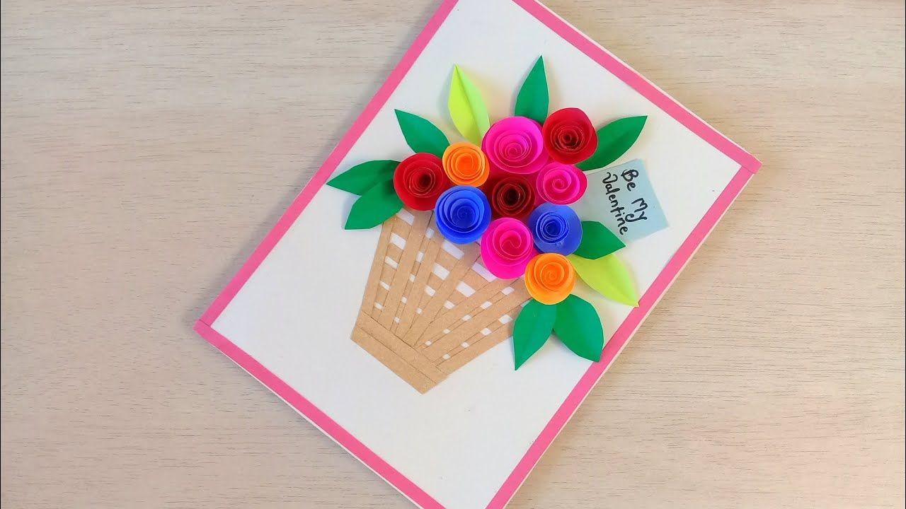 diy beautiful handmade valentine card idea  how to make