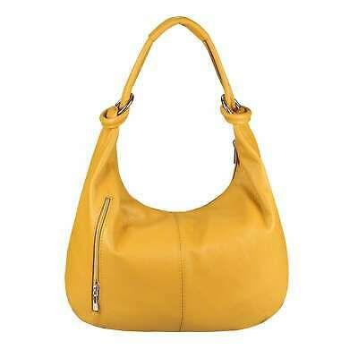 Photo of ITALy DAMEN LEDER TASCHE Hobo-Bag Shopper Schultertasche Beuteltasche Handtasche…
