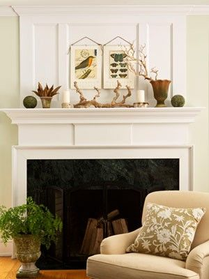 could this be a headboard? Naturalist Decor Pinterest Mantels