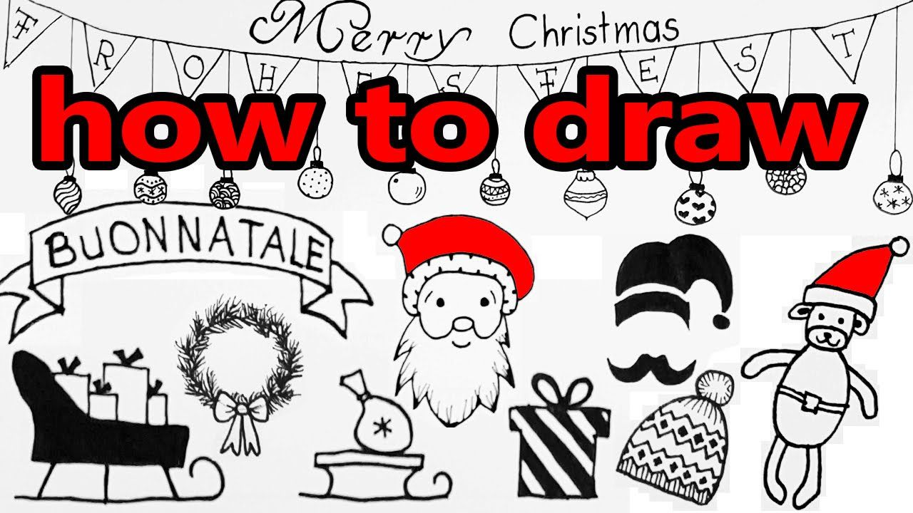 How To Draw Christmas Doodles Diy Tutorial My Drawings