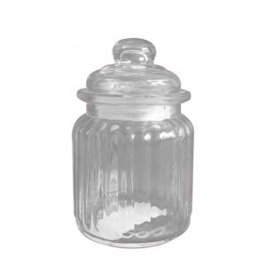 Candy Storage Jar (12.5cm) - Easy Florist Supplies - foam, cellophane, ribbons, silk flowers, glass vases, wedding accessories and much more