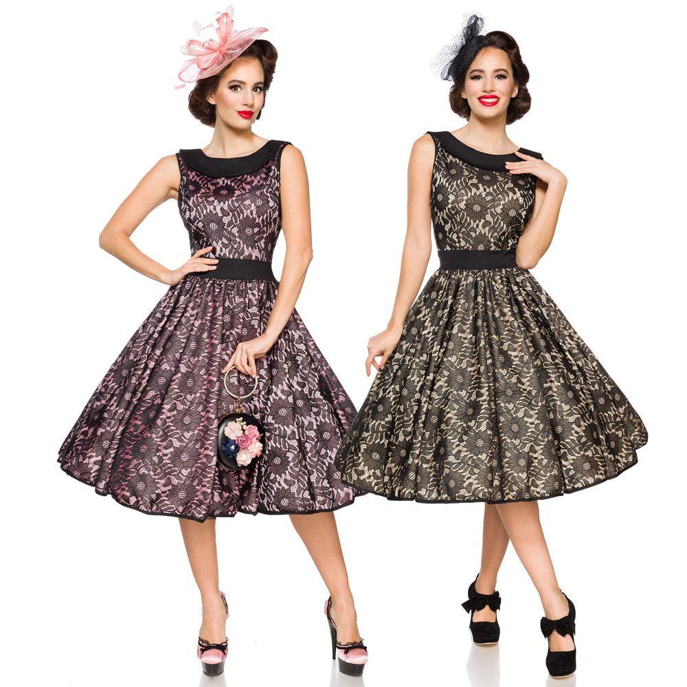 Vintage Spitzenkleid Kleid Retro Spitze Rockabilly 50er