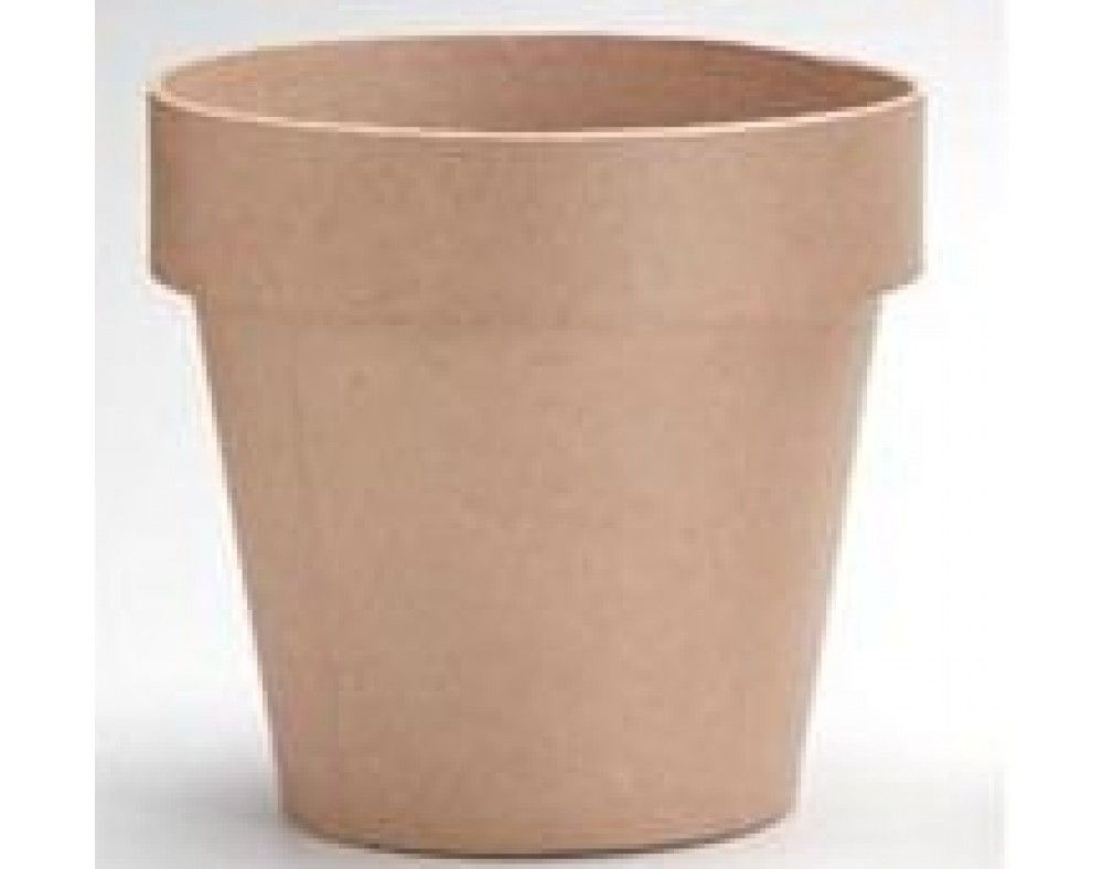 100mm Paper Mache Flower Pot To Decorate Crafty And She Knows It