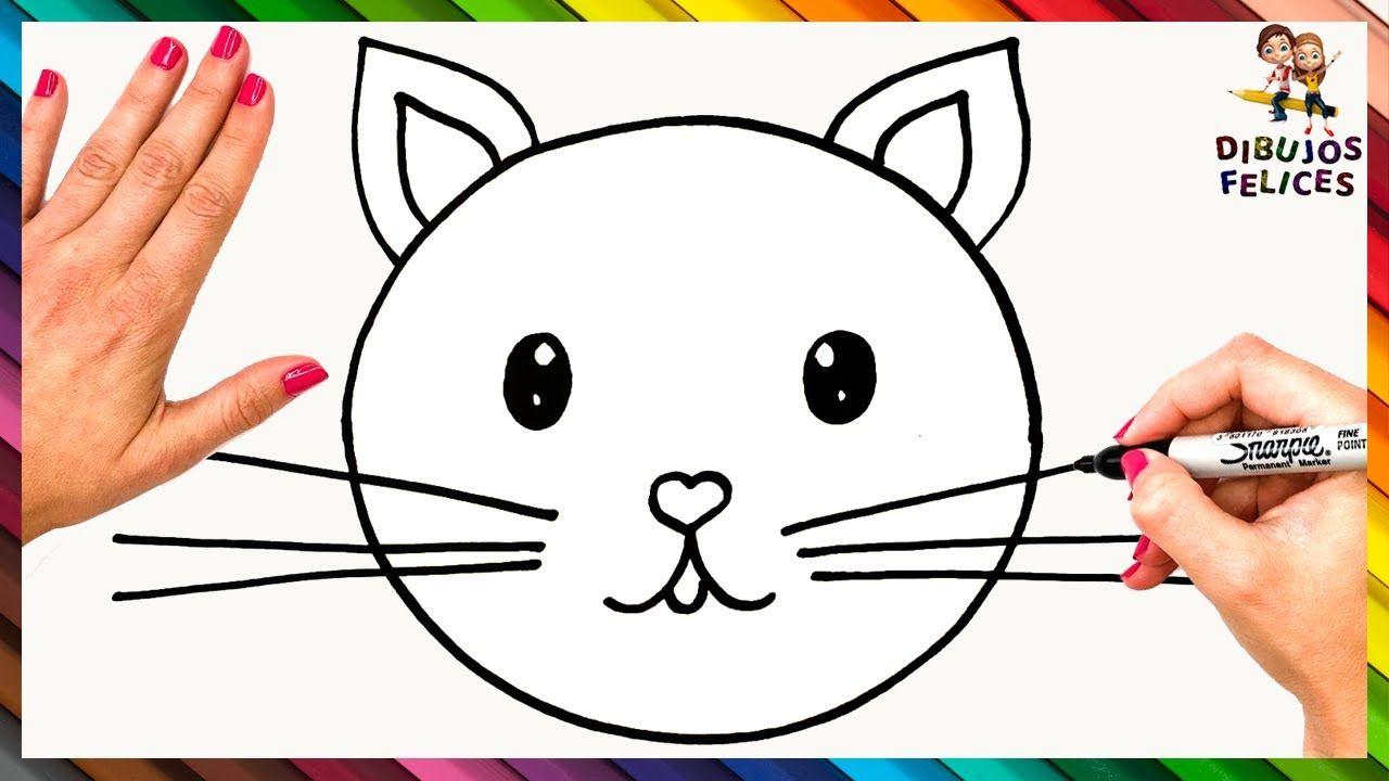 Cómo Dibujar Un Gato Paso A Paso Dibujo De Gato Como Dibujar Un Gato Dibujo Gato Facil Dibujos De Animales