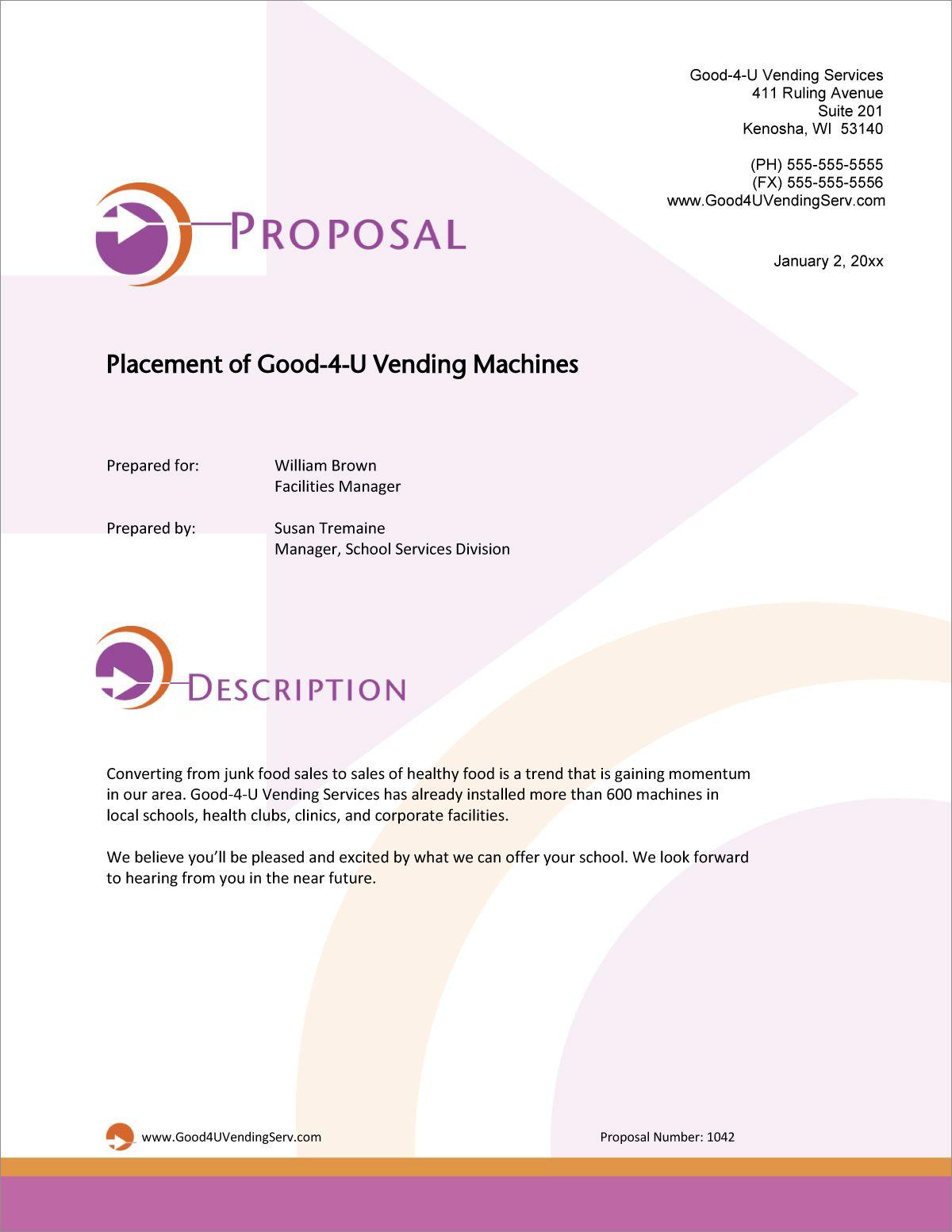 free vending business plan template