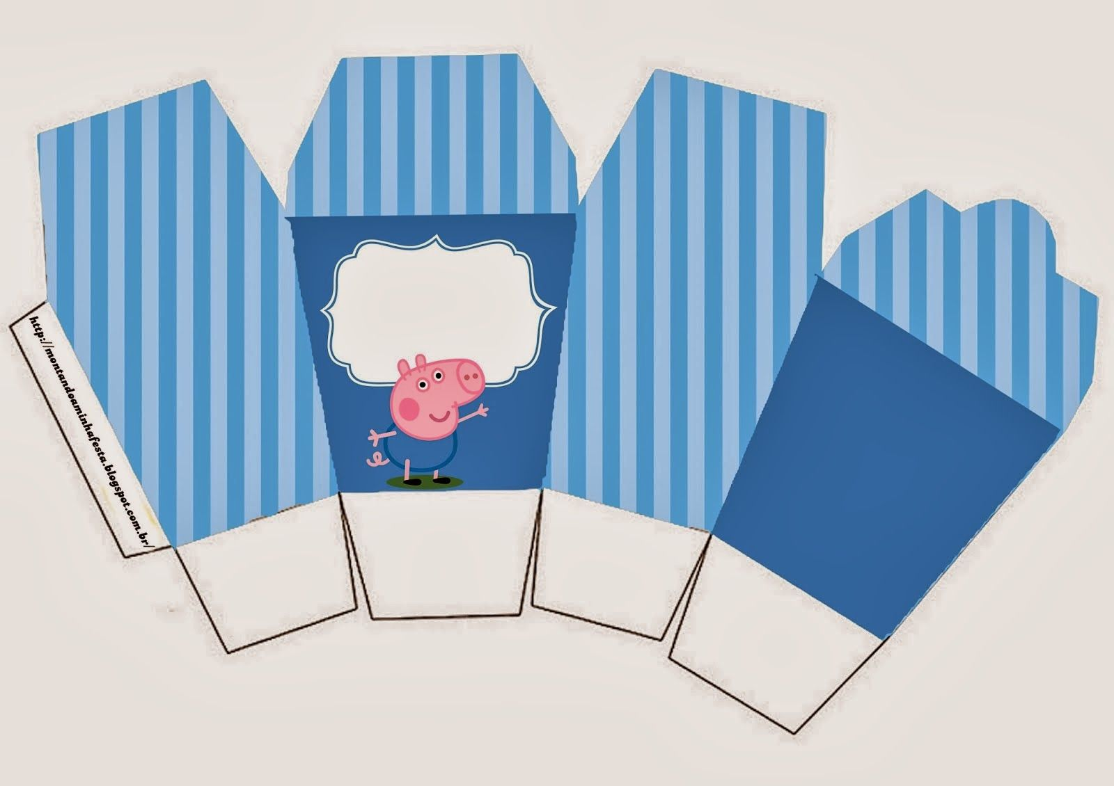 george pig free printable party boxes cumple cata pinterest