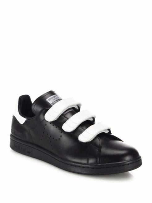 e00005f5b43e6 Adidas by Raf Simons Stan Smith Grip-Tape Leather Sneakers Blk White 9 NIB   375  adidas  FashionSneakers
