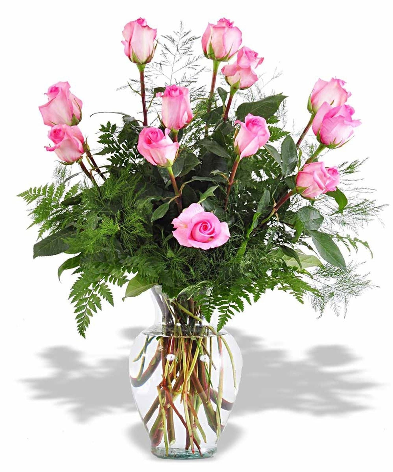 FRESH REAL FLOWERS  Delivered Pink Rose Bouquet Free Flower Delivery