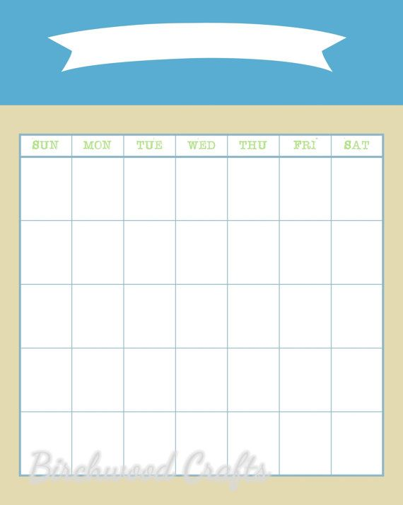 $2 Printable monthly calendar template Dorm organization and - printable monthly calendar sample