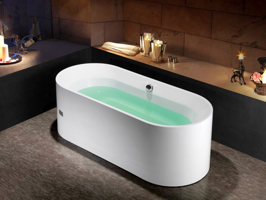 Baignoire îlot design KATOUCHA acrylique 75*170*58cm prix promo - prix baignoire a porte