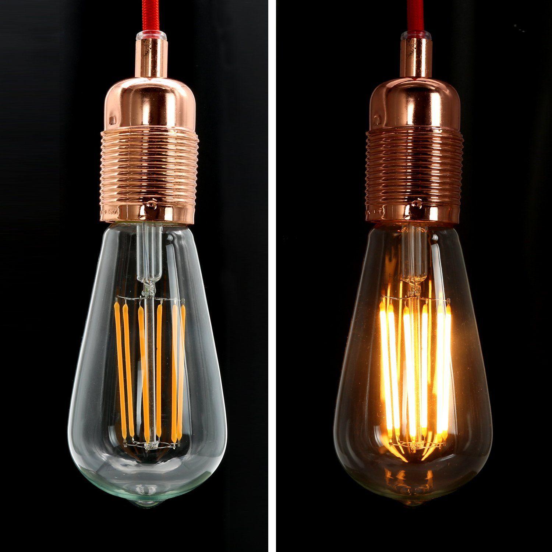 NATIONALMATER ST64-8W LED Glühbirne, Vergolden LED Glühfaden Classic ...
