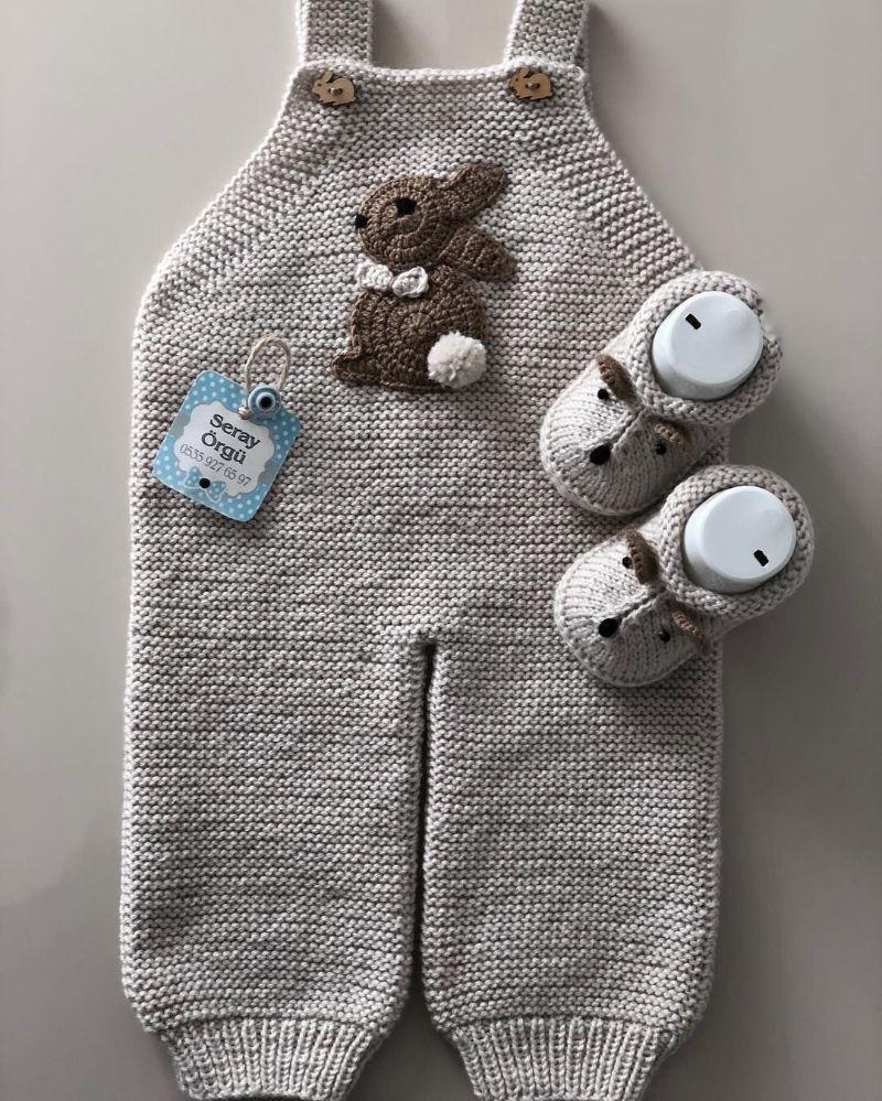 Kışa Hazırlık Bebek Tulum Örgü Modelleri