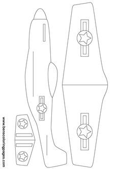 cut out airplane template - amelia earhart paper airplane template google search