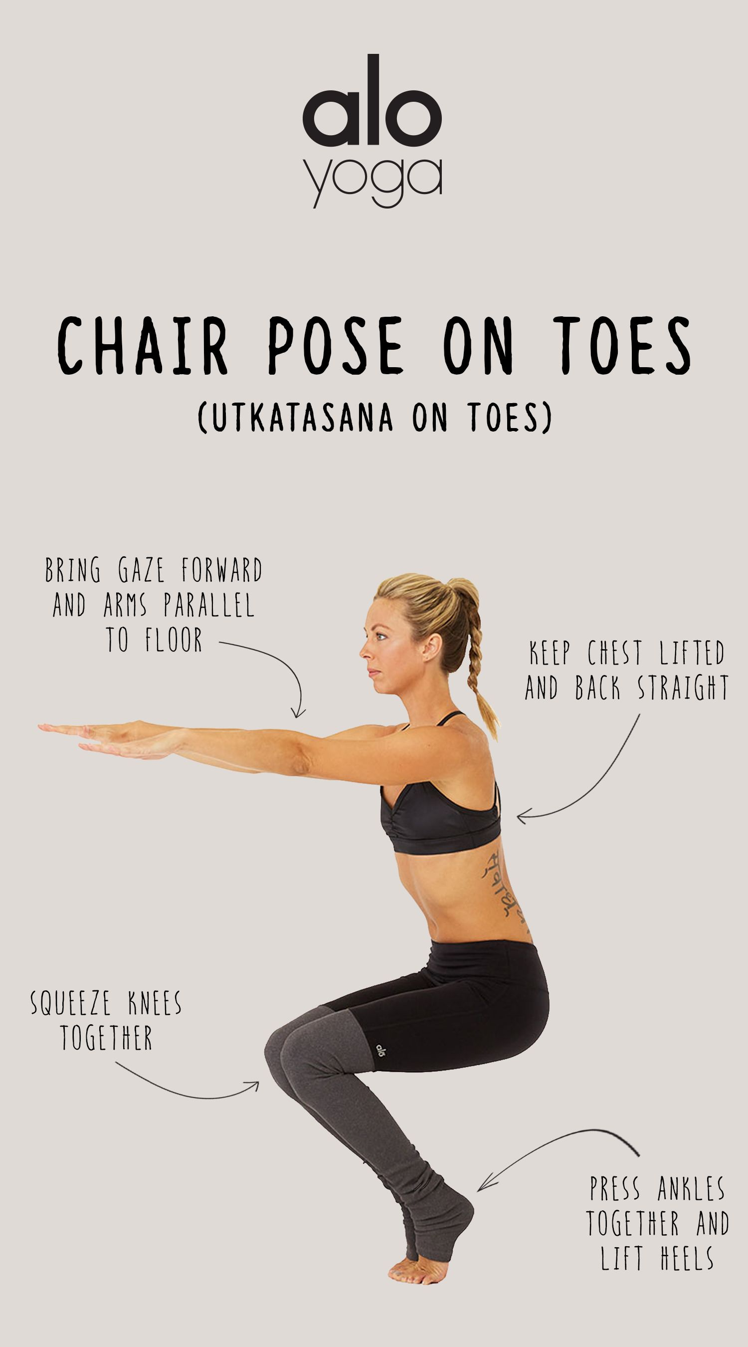 How To: Chair Pose on Toes #yoga #yogagoals #chairpose #yogainspiration