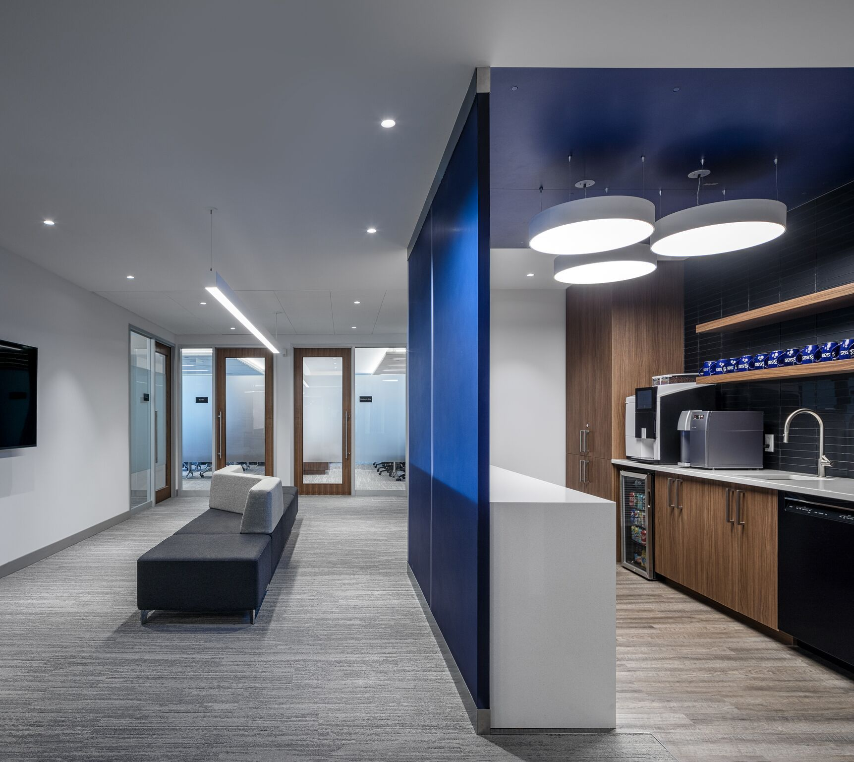 Modern office design and lighting in Ottawa Ontario Canada FLUX