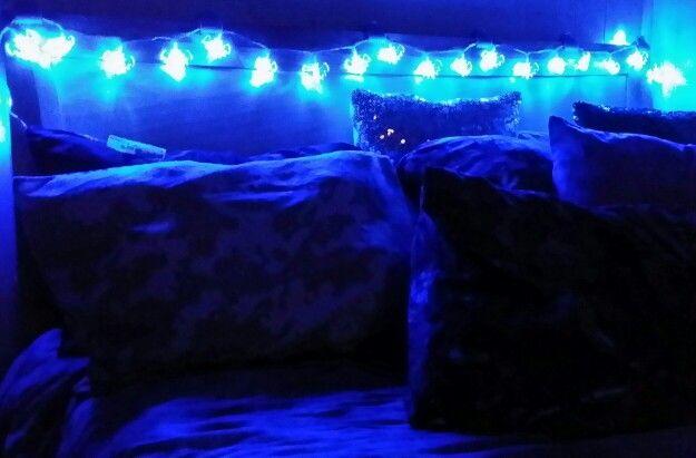 Got these cool bat lights to string across my headboard