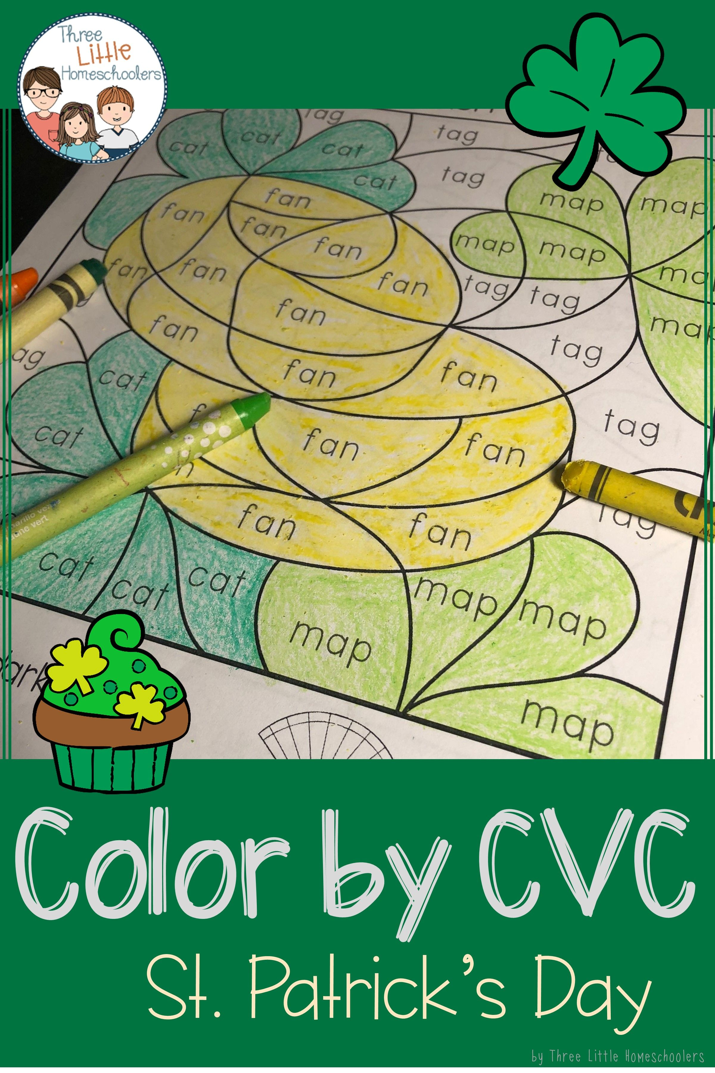 St Patrick S Day Color By Cvc Word