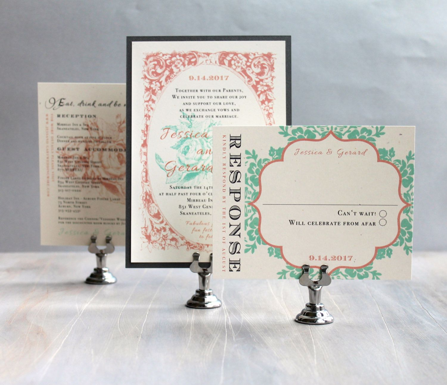 Vintage Lace ~ A Romantic Wedding Inspiration Board in Pink and Mint by Beacon Lane