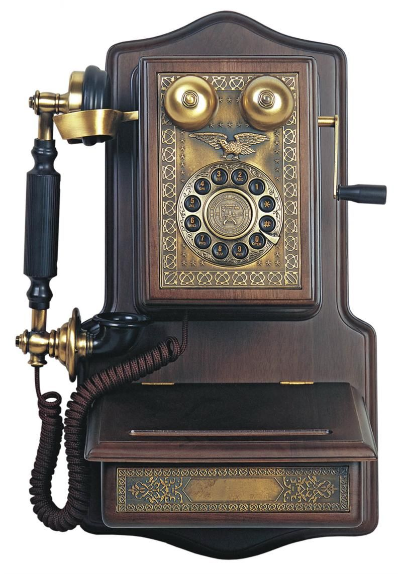 Vintage Phones 1907 Wooden Wall Telephone Antique Wall