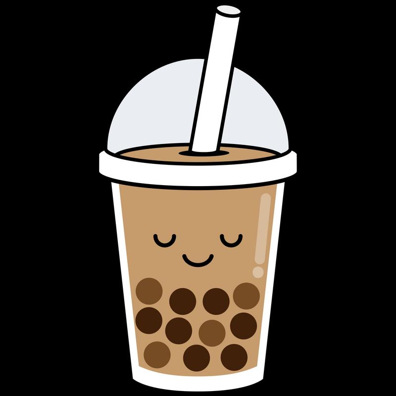 Boba Sticker By Kawaii Designs White 3 X3 Cute Food Drawings Tea Wallpaper Kawaii Drawings