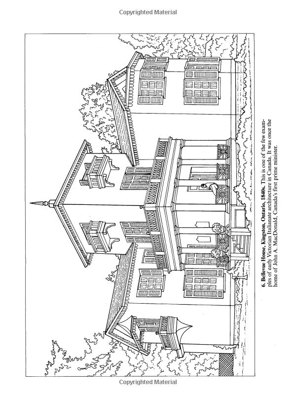 Victorian Houses (Dover History Coloring Book): A. G. Smith ...