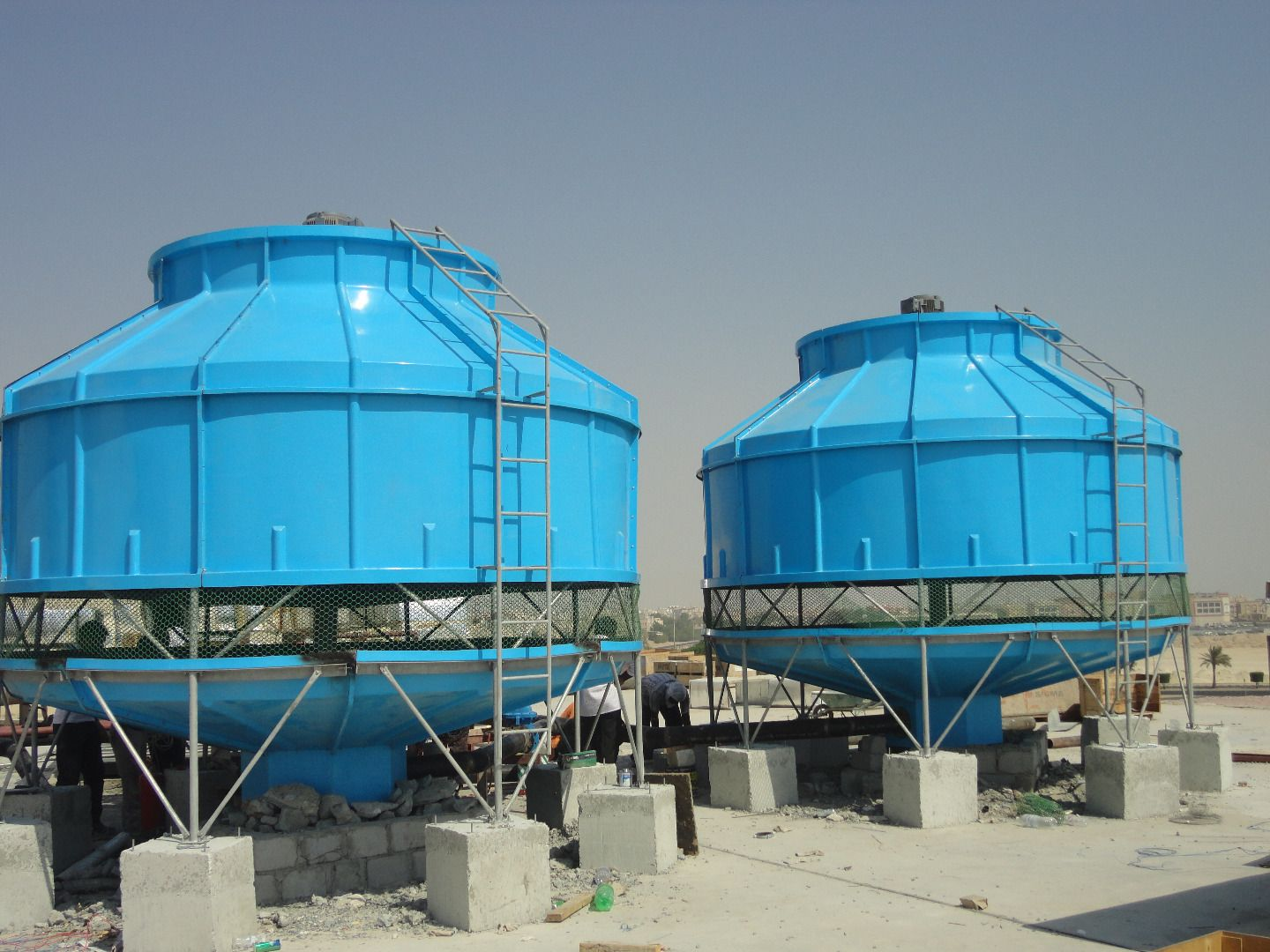 Round And Bottle Cooling Tower Cooling Tower Tower Installation