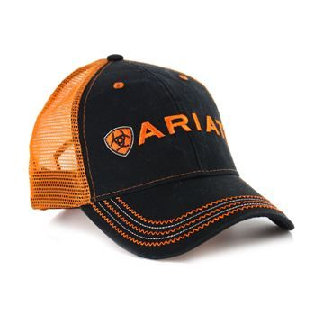 84a8983c61b69 Ariat Men s Embroidered Logo Trucker Hat in 2019